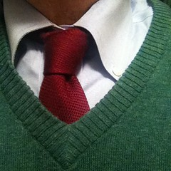 This is the necktie I wore today. Knot: Half-Windsor