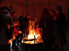 Warm fire inside Lávvu