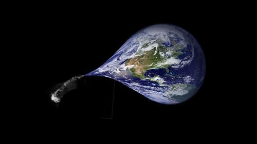 Tierra desinflandose