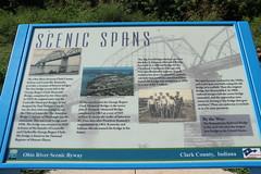Historic Ohio River River Bridges Sign