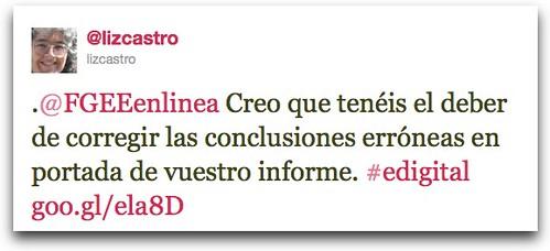 Twitter / @lizcastro: .@FGEEenlinea Creo que ten ...