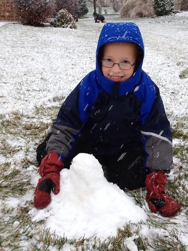 Zach's Snow Volcano