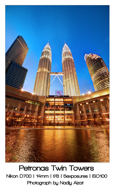 KLCC during blue hour