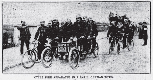 "German Bicycle Fire ""Apparatus"" (1910)"