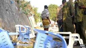 Aftermath of a bomb blast in the Somalian capital of Mogadishu. The incident has been automatically blamed on al-Shabaab. Several neighboring states backed by the US have invaded the Horn of Africa nation. by Pan-African News Wire File Photos