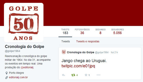 Cronologia do Golpe  golpe1964  no Twitter