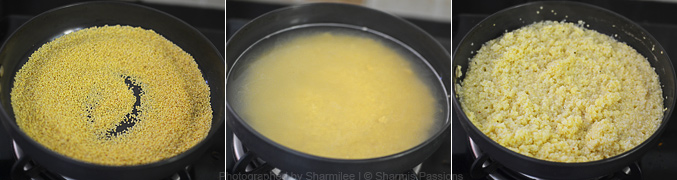How to make thinai payasam - Step1