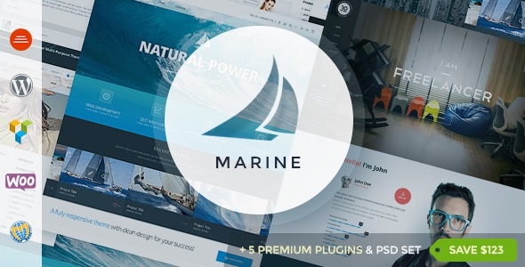 Marine v2.7 - Responsive WordPress Theme Multi-Purpose
