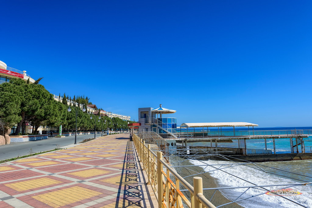 Seafront in April