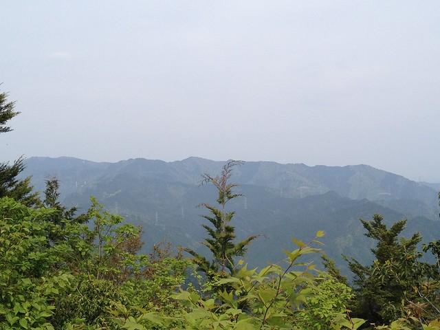 相戸岳 山頂より高賀山方面