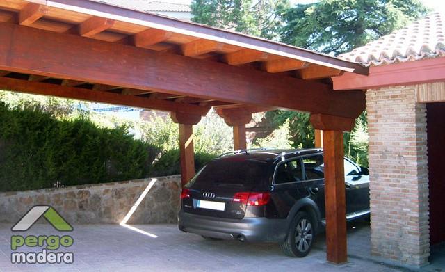 Porches de madera garajes marquesinas 05 flickr photo - Garajes de madera baratos ...
