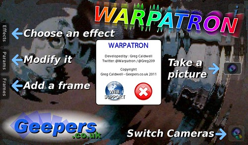 Warpatron title screen