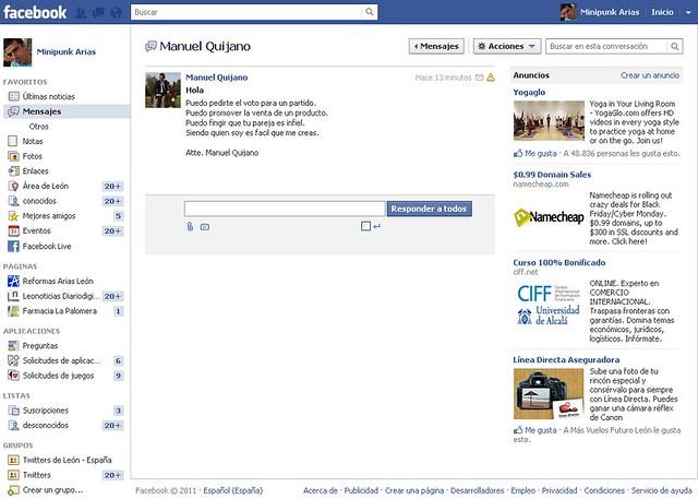 Vulnerabilidad en facebook