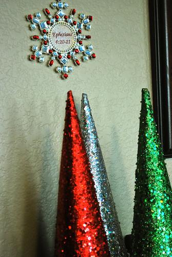cones of sparkles