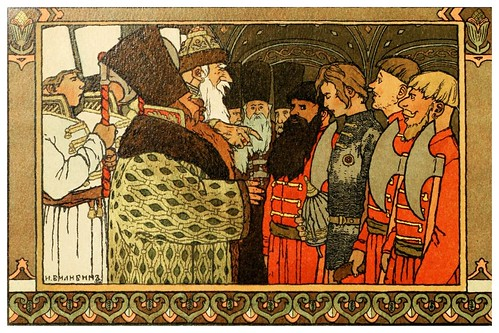 017-Los cuentos de de Iván zarevich, El pájaro de fuego y el lobo gris 1899- Ivan Jakovlevich Bilibin