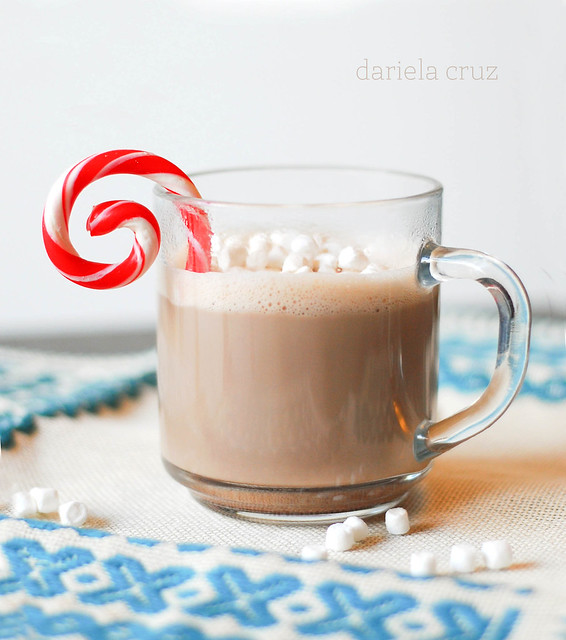 Hot Chocolate with candy came swirl