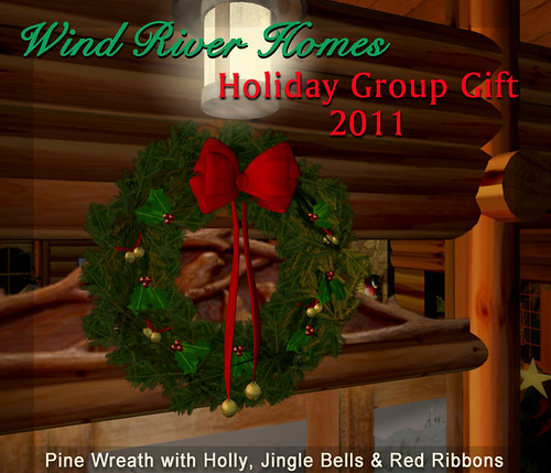 Wind River Holiday Wreath 2011 by Teal Freenote