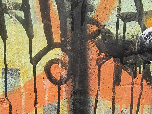 Abstract View: Dripping Graffiti Forms