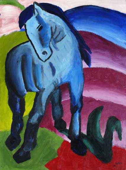 Blue Horse, another painting, Franz Marc
