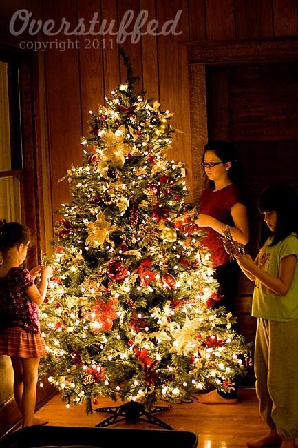 icicles on christmas tree
