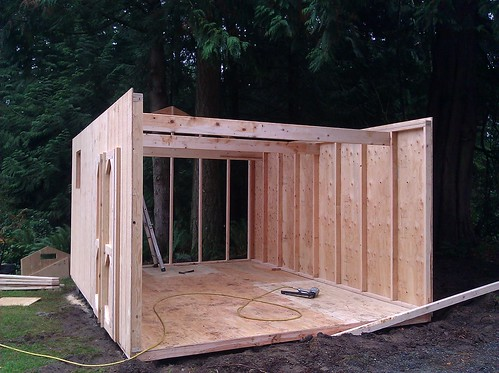 Shed is going up quickly