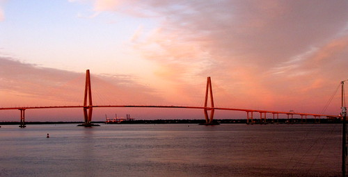 Arthur J. Ravenel Jr. Bridge at Sunset