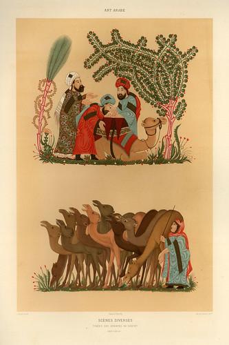 020-Escenas diversas siglo XIII-L'art arabe d'apres les monuments du Kaire…Vol 3-1877- Achille Prisse d'Avennes y otros.