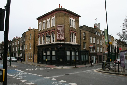 The corner of Cable St and Cannon St Rd