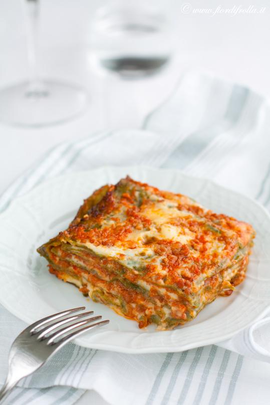 Lasagne verdi alla bolognese.