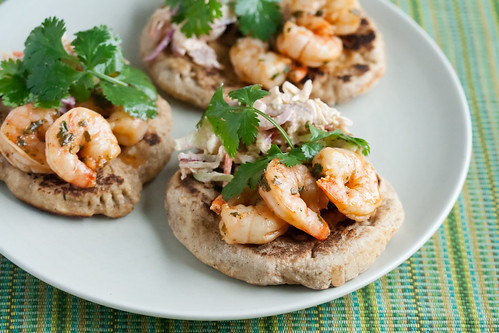 Chile-Lime Shrimp Naan Wraps