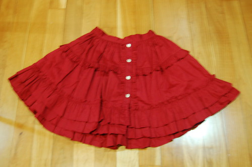 Lolita Closet Count! Skirts: Red - Dear Celine Red Skirt - 50cm Version