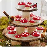 woodland cupcakes