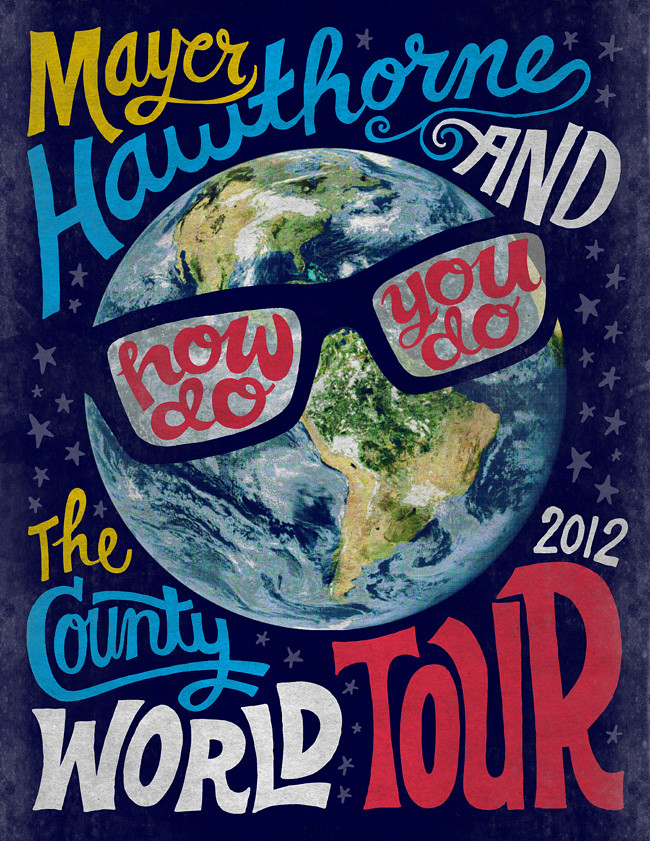 Mayer Hawthorne - How Do You Do - World Tour poster