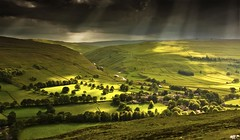 Storm and Sunlight over Arncliffe