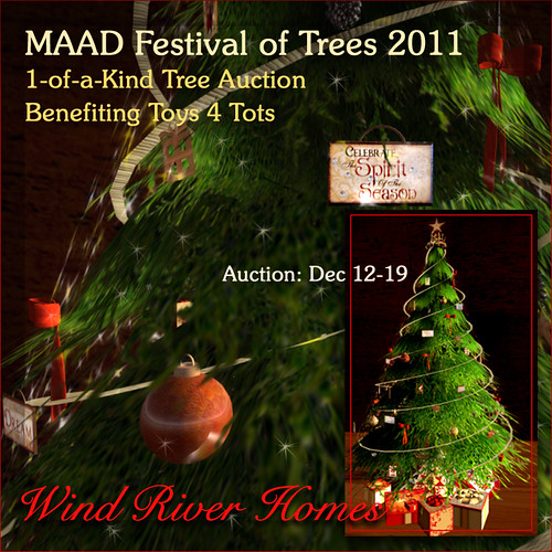 Festival of Trees 2011 - my entry by Teal Freenote