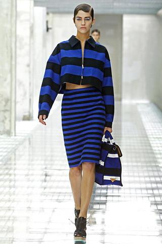 prada-spring-2011-rtw-black-and-blue-striped-skirt-mobile-wallpaper