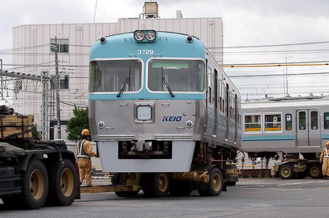 京王電鉄井の頭線 3000系 3029Fクハ3729・デハ3029 搬出 0707