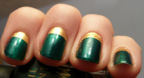 green gold nails 4