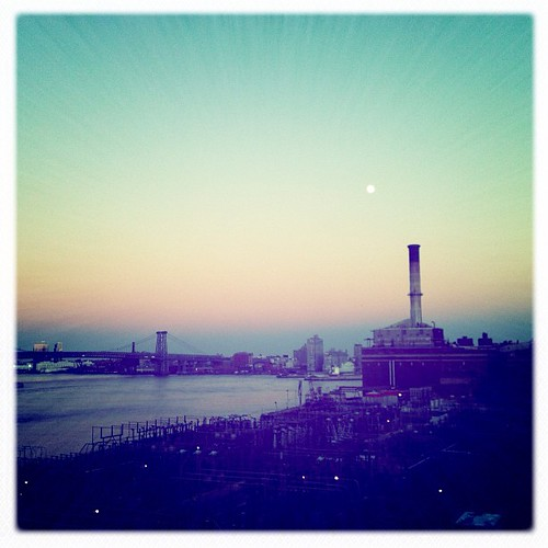 Early twilight in Brooklyn