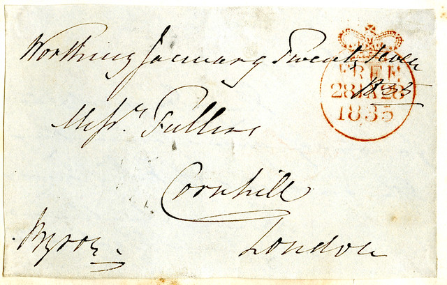 Letter sent by Lord Byron