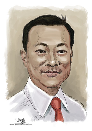 digital portrait of Mr Lye Thiam Fatt, Joseph Victor