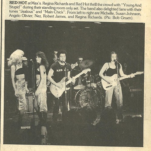 1978 Regina and the Red Hots @ Max's Kansas City (Bob Gruen - Rock Scene Magazine)