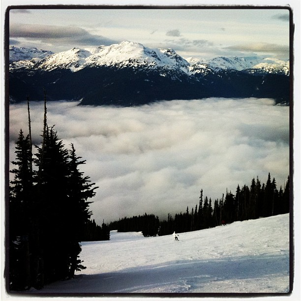 Playing in the clouds in #Whistler BC