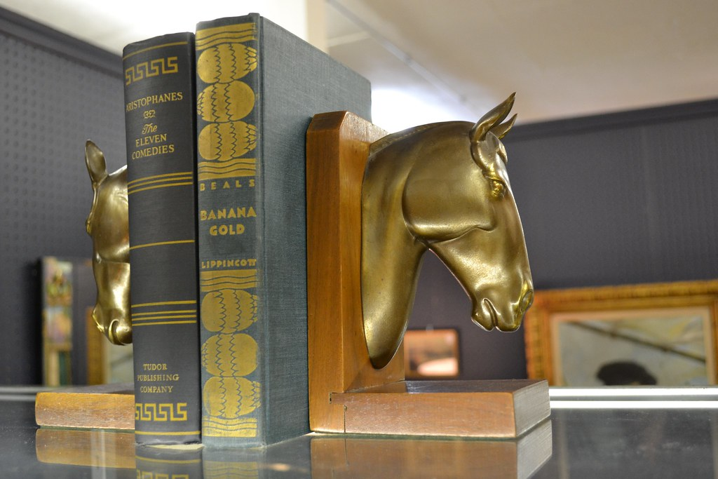 Horse Bookends @ the STUDY Booth at Broadway Antique Market Chicago