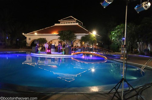 Pool at night (with band)