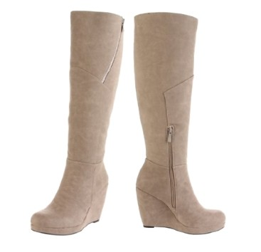 Tall Wedge Boots for Winter