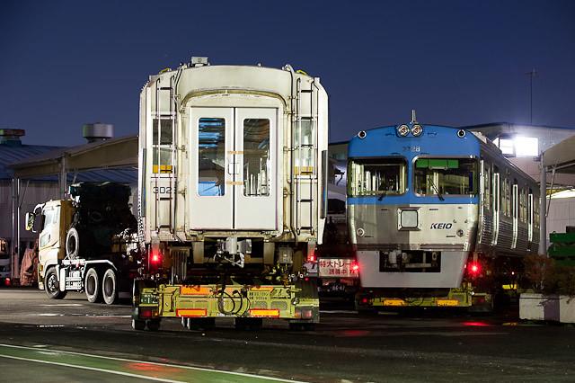 京王電鉄井の頭線 3000系 3028F クハ3728 デハ3028 陸送