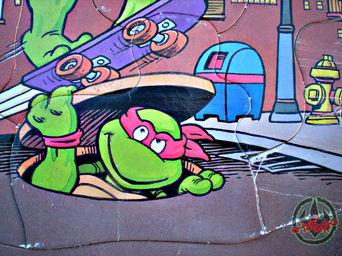 "ROSE ART :: 'TEENAGE MUTANT NINJA TURTLES' - ""Skate Board"" FRAME-TRAY Puzzle v (( 1993 ))"