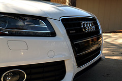 wheel(0.0), rim(0.0), audi a5(0.0), vehicle registration plate(0.0), automobile(1.0), automotive exterior(1.0), vehicle(1.0), automotive design(1.0), audi q5(1.0), audi s8(1.0), grille(1.0), bumper(1.0), land vehicle(1.0), luxury vehicle(1.0),