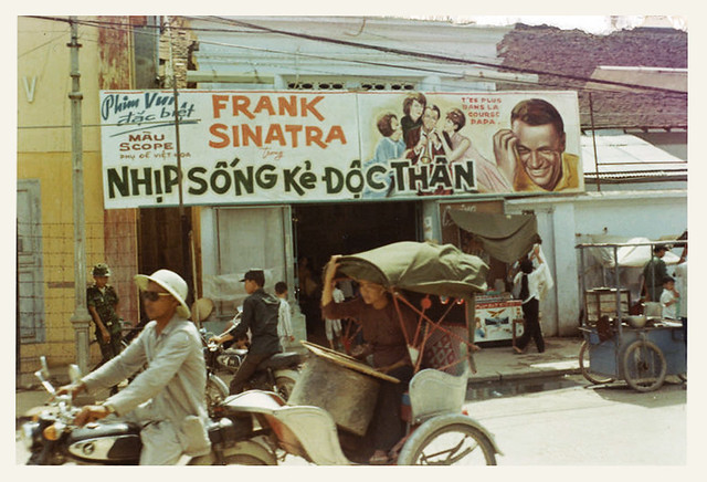 Dong Ha 1969 - Frank Sinatra billboard sign in Dong Ha